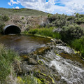 The eastern Sierra's dramatic skies provide a great backdrop for a soak.- Fales Hot Ditch
