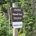 The start of the Monarch Lake Trail.- Crater Lake via Cascade Creek