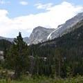 First glimpse of the high terrain.- Crater Lake via Cascade Creek