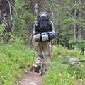 Lucky backpacker who scored an overnight permit.- Crater Lake via Cascade Creek