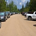 The parking lot tends to fill by mid-morning.- Crater Lake via Cascade Creek