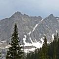 Looking southwest toward Peck Glacier.- Crater Lake via Cascade Creek