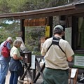 Station registration and permit check.  - Crater Lake via Cascade Creek