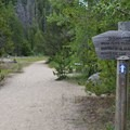 Easy sand path for the first 0.5 mile.- Crater Lake via Cascade Creek
