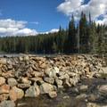 Dammed up Boulder Lake.- Boulder Lake