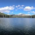 Panorama of Boulder Lake with Buckhorn Mountain in the center.- Boulder Lake