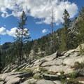Rugged granite slopes.- Boulder Lake