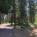 Many paved walkways inhabit the park.- Ponderosa State Park