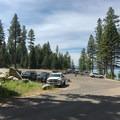 Boat ramp parking area.- Ponderosa State Park