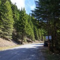 Limited roadside parking at the trailhead.- Henline Mountain