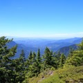 View toward the Willamette Valley from the lookout site.- Henline Mountain