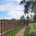Mount Hood from the Indian Creek Trail.- Indian Creek Trail
