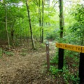 The trailhead for the Mountain Laurel Trail.- Foothills Equestrian and Nature Center (F.E.N.C.E.)
