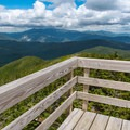 Looking toward Mount Washington from the observation deck.- Mount Carrigain via Signal Ridge