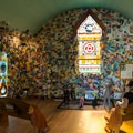 The interior of Dog Chapel.- Dog Mountain + Dog Chapel