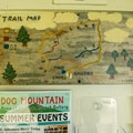 A trail map of the on-site walking trails. This map is located just outside the gallery door.- Dog Mountain + Dog Chapel