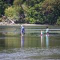 A family enjoying the Esquimalt Lagoon Migratory Bird Sanctuary.- Esquimalt Lagoon Migratory Bird Sanctuary