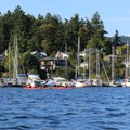 Paddling Brentwood Bay.- Brentwood Bay