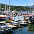 Brentwood Bay, the launching spot for Daphne Inlet and a great place to rent paddling options.- Buchart Gardens Cove Daphne Inlet