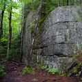 A large sheer rock wall on the way up the Long Trail.- Mount Jo