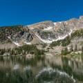 Beautiful mountains behind Forest Lake #2.- Forest Lakes + Needle Eye Tunnel