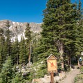 Looking back down the trail toward Forest Lake #2.- Forest Lakes + Needle Eye Tunnel