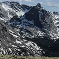 The high alpine tundra provides spectacular views from Trail Ridge Road in Rocky Mountain National Park.- Trail Ridge Road
