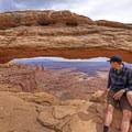 Checking out a Utah wonder.- Mesa Arch