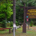 Campground entrance on Route 86.- Wilmington Notch Campground