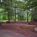 The day use picnic area.- Wilmington Notch Campground