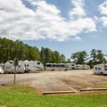 RV-only camping.- Jane's Island State Park Campground