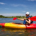 Kayaking the Yellow Trail to the beachfront.- Jane's Island State Park