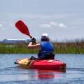 Kayaking back to the marina.- Jane's Island State Park
