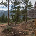 Shortly after you begin your hike you'll see the path down to the Aspenglen Campground.- Deer Mountain
