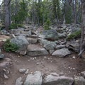 The last push to the summit is a short and rocky stairmaster. Push through for a summit view.- Deer Mountain