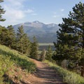 Longs Peak towers over you most of the Deer Mountain hike in Rocky Mountain National Park.- Deer Mountain