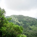 Konahuanui summit in the clouds.- Pali Puka