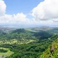 Views of Kailua from the summit above the Puka.- Pali Puka