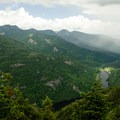 Another view of Ausable Lake, with some weather coming in.- Colvin and Blake