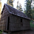Wood shed behind the guard station.- Musick Guard Station