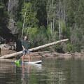 Stand-up paddleboarding at C.C. Cragin Reservoir.- C.C. Cragin Reservoir