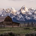 The Moulton Barn at first light.- Mormon Row