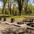 One of five group sites.- Gros Ventre Campground