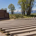 The campground amphitheater has programs in summer.- Gros Ventre Campground