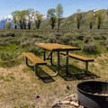 Wide open spaces at Gros Ventre Campground.- Gros Ventre Campground