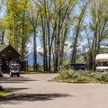 The office is staffed with helpful people.- Gros Ventre Campground