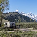 "Some sites on ""A"" loop have Teton views- Gros Ventre Campground"