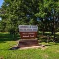 Recreational area entrance.- Chewalla Lake Recreation Area