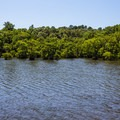 View from boat ramp.- Wall Doxey State Park Campground