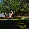 Playground near the pavilion.- Wall Doxey State Park Campground